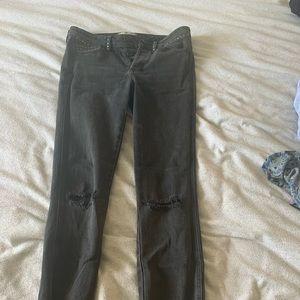 Free people studded distressed straight leg jean